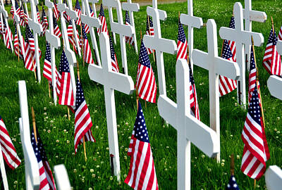 Photograph - Memorial Flags by Staci Bigelow