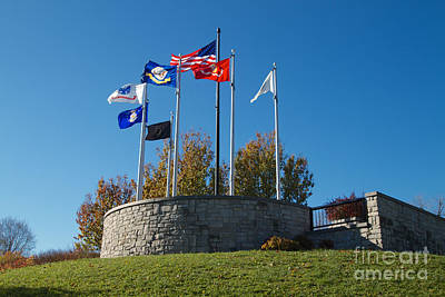 Photograph - Memorial Flags by William Norton