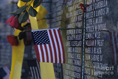 Photograph - Memorial For Our Fallen Soldiers by Jim Corwin