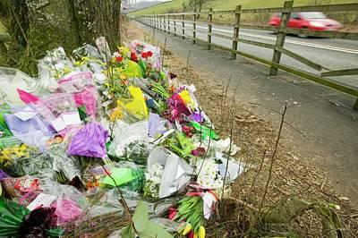 Memorial Of A Car Crash Victim Art Print