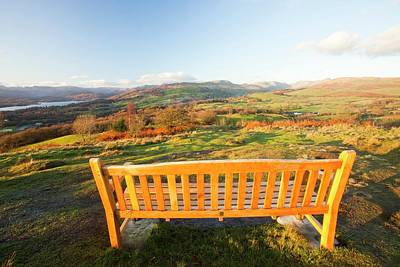 Memorial Seat On Orrest Head Art Print by Ashley Cooper