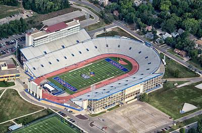 Lawrence University Photograph - Memorial Stadium University Of Kansas by Georgia Fowler