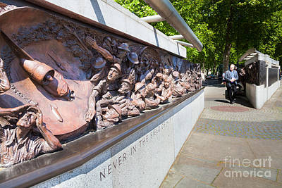 Photograph - Memorial To The Battle Of Britain On The Victoria Embankment Lon by Peter Noyce