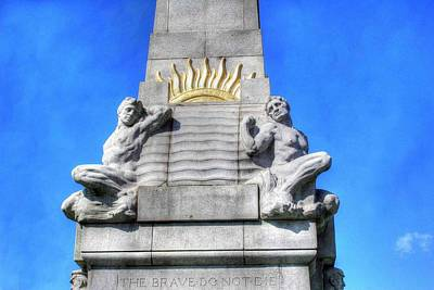 The Titanic Photograph - Memorial To The Engine Room Heroes Of The Titanic  by Frank Luxford