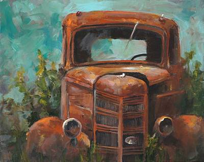 Rusty Cars Wall Art - Painting - Memories by Cari Humphry