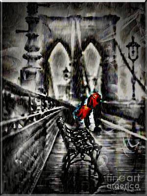 Brooklyn Bridge Mixed Media - Memories by Christine Mayfield