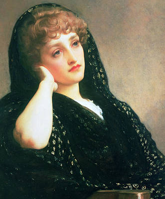 Sadness Painting - Memories by Frederic Leighton