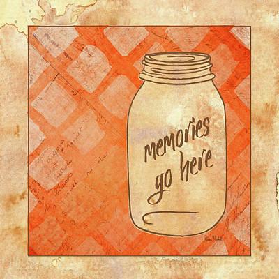 Family Love Painting - Memories Go Here by Ramona Murdock