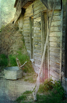 Photograph - Memories In Sod And Weathered Wood by Judy Hall-Folde