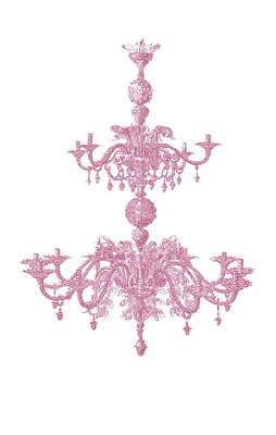 Memories Of Chandeliers Past - Mauve Art Print by KM Russell