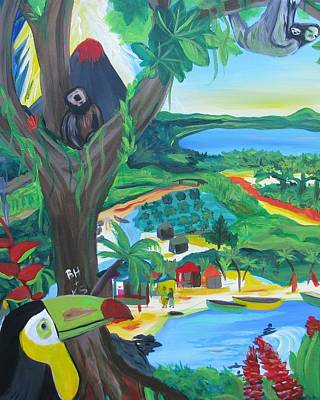 Sloth Painting - Memories Of Costa Rica by Kelly Simpson