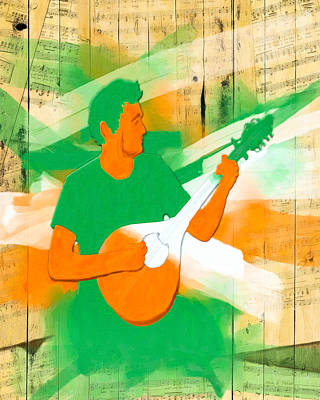 Digital Art - Memories Of Irish Music by Mark E Tisdale