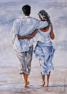 Girlfriend Painting - Memories Of Love by Emerico Imre Toth