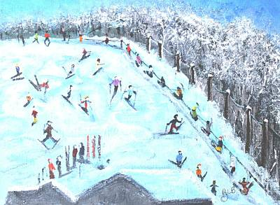 Waltham Painting - Memories Of Skiing by Rita Brown