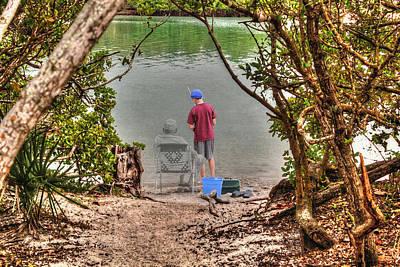 Memories Of The Fishing Hole Art Print