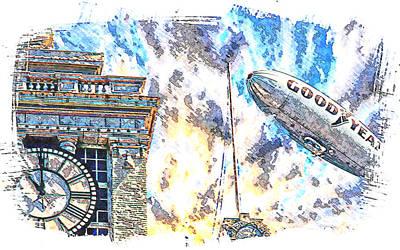 Memories Of The Hindenburg Art Print by Ken Evans