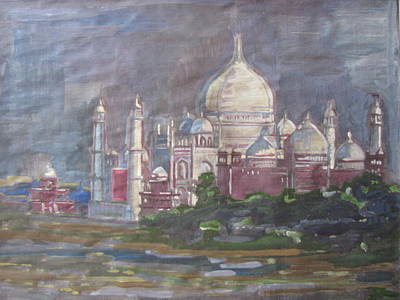 Memories Of The Taj Art Print