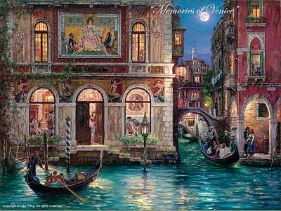 Painting - Memories Of Venice by Cao Yong