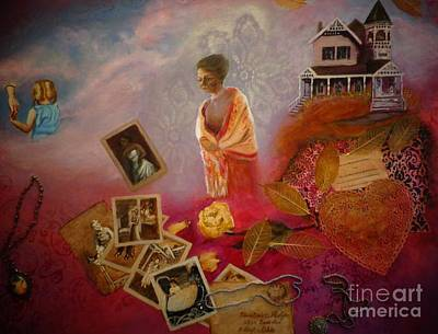 Heart Necklace Painting - Memories by Penny Ross