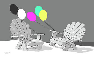 Dkzn Digital Art - Chair Talk by Tom Dickson