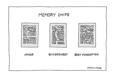 Chip Drawing - Memory Chips by Richard McCallister