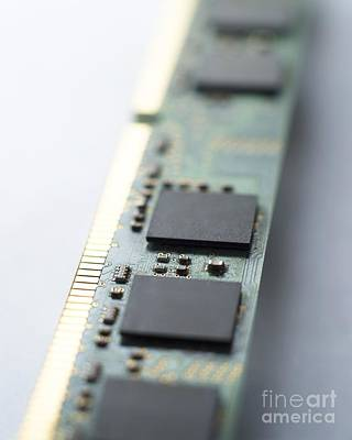 Integrated Photograph - Memory Chips by Robert Brook