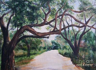 Art Print featuring the painting Memory Lane by Mary Lynne Powers