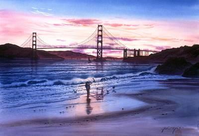 Memory Of China Beach San Francisco Original by John YATO