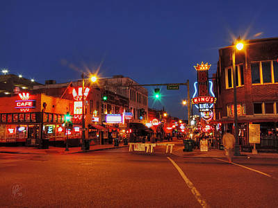 Photograph - Memphis - Beale St. Twilight 001 by Lance Vaughn
