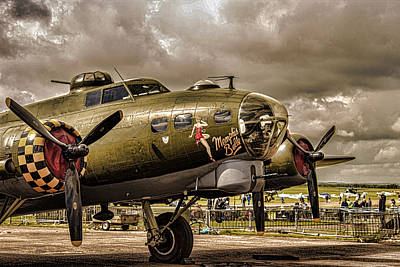 Spitfire Photograph - Memphis Belle by Martin Newman