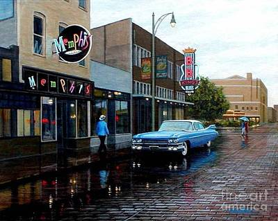 Beale Street Painting - Memphis Blues by Frank Dalton