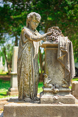 Memphis Elmwood Cemetery Monument - Cassie Hill Art Print by Jon Woodhams