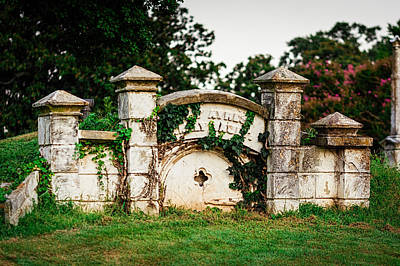 Elmwood Cemetery Photograph - Memphis Elmwood Cemetery - Ayres Family Vault by Jon Woodhams