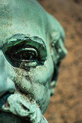 Patina Photograph - Memphis Elmwood Cemetery Monument - The Governor by Jon Woodhams