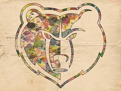 Painting - Memphis Grizzlies Logo Art by Florian Rodarte