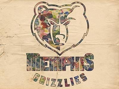 Painting - Memphis Grizzlies Poster Art by Florian Rodarte