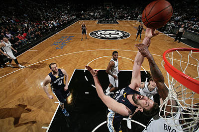 Photograph - Memphis Grizzlies V Brooklyn Nets by Nathaniel S. Butler