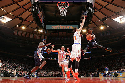 Photograph - Memphis Grizzlies V New York Knicks by Nathaniel S. Butler