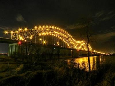 Photograph - Memphis - Hernando De Soto Bridge 003 by Lance Vaughn