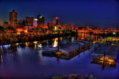 Photograph - Memphis Tn Just Before Dawn by Reid Callaway
