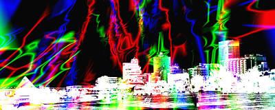 Photograph - Surreal - Cityscape - Memphis Magic by Barry Jones