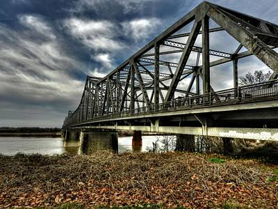 Memphis Photograph - Memphis - Memphis And Arkansas Bridge 001 by Lance Vaughn
