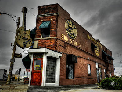 Bluff Photograph - Memphis - Sun Studio 001 by Lance Vaughn