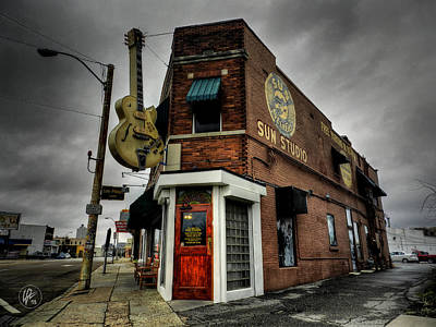 Bluff Photograph - Memphis - Sun Studio 004 by Lance Vaughn