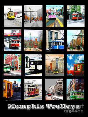 Digital Art - Memphis Trolleys by Lizi Beard-Ward