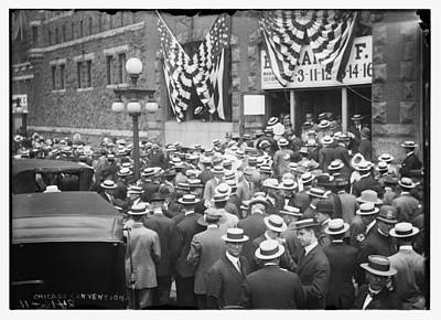 Photograph - Men At 1912 Republican National Convention by Historic Photos