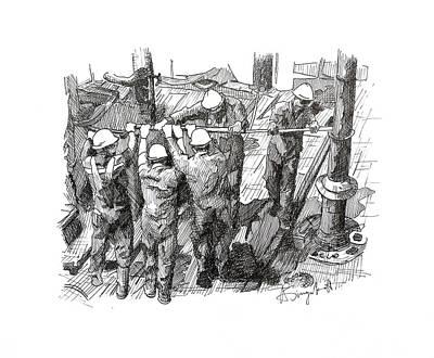 Men At Work 1 Original by Alexei Biryukoff