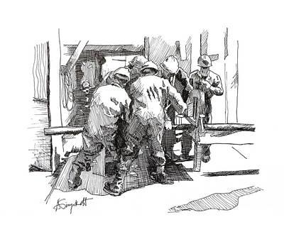 Men At Work 2 Art Print