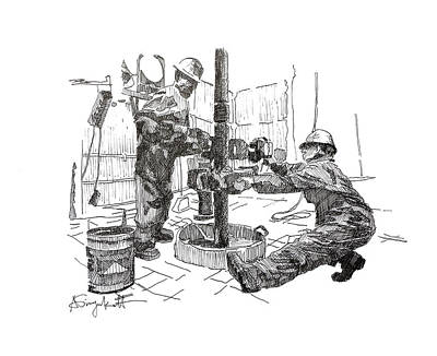 Men At Work 3 Art Print