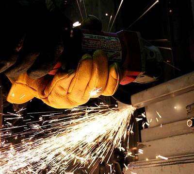 Photograph - Men At Work by Trent Mallett